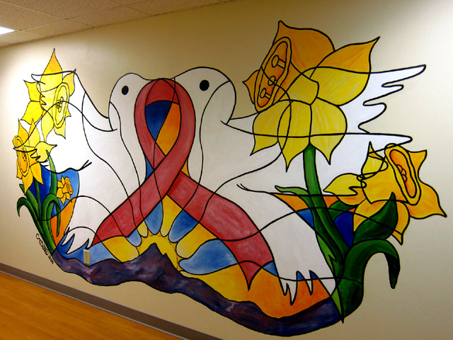 """Curexamined"" Mural for Radiology Dept in St Josephs North in Westminster, CO 8'x18'"