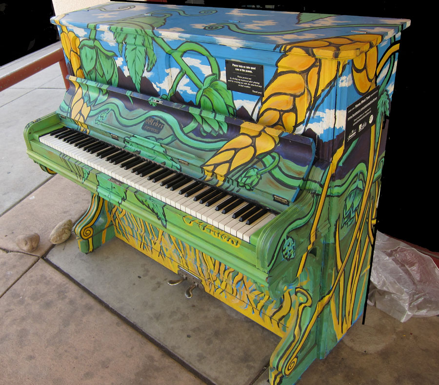 "Chris Bates, ""Main Ingredients"" mural on piano for Bohemian Foundation's Piano's About Town Project 2011"
