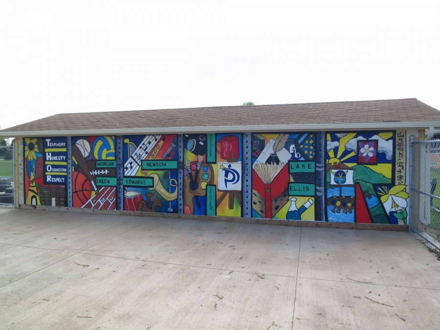 Youth Mural Project, Lesher Middle School, Fort Collins, CO