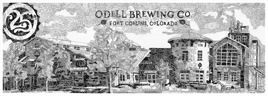 Finetoon Drawing for Odell Brewing Company's 25th Anniversary